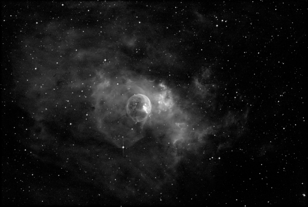 Bubble Nebula (NGC 7635)[Ha:76x35s]